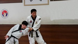 Hapkido joint lock to wrist elbow.